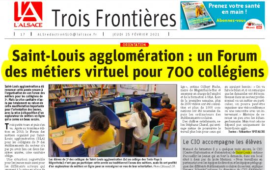 article L'alsace forum métiers virtuel avec l'explorateur de métiers